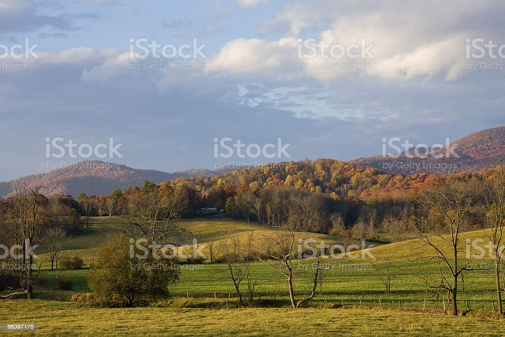 Autumn colors in Appalachian mountains. royalty-free stock photo