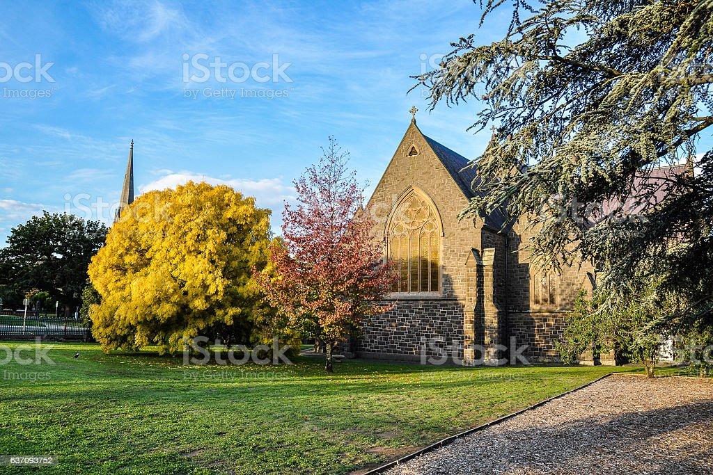 Autumn colors in Ballarat stock photo