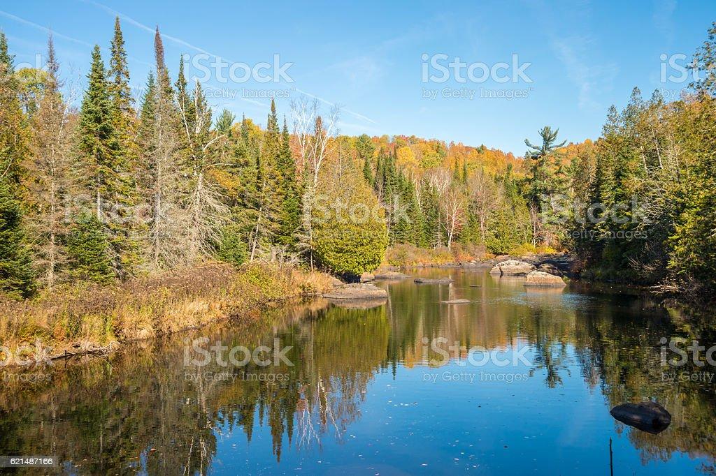 Autumn colors in Quebec, Canada photo libre de droits