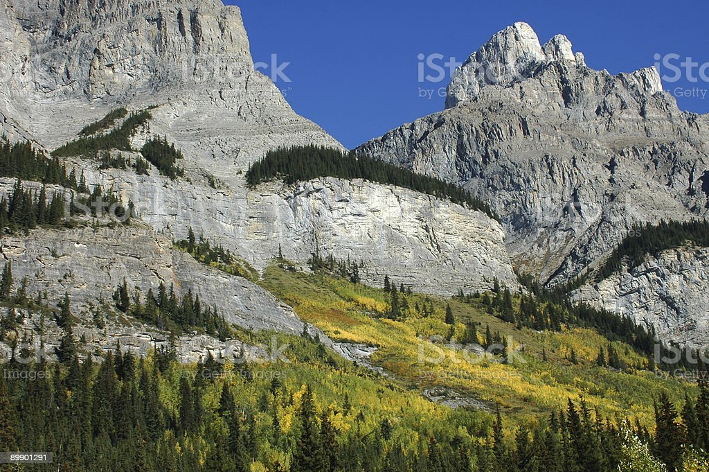 Autumn Colors in the Candian Rockies stock photo