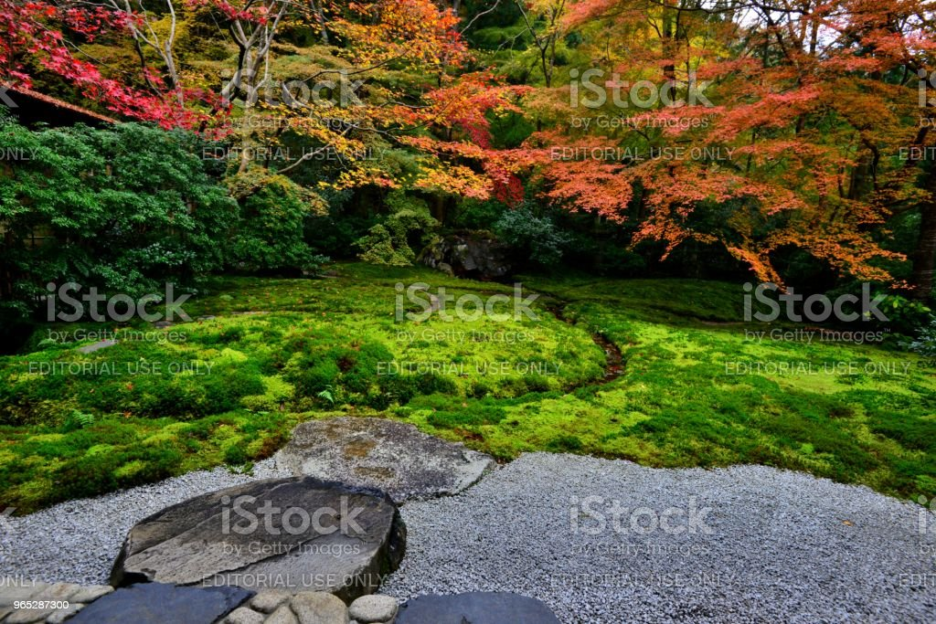 Autumn Colors of Kyoto: Ruriko-in Temple royalty-free stock photo
