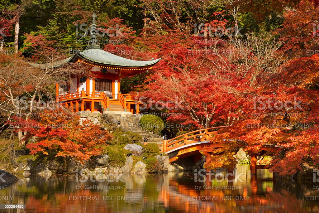 Autumn colours at Daigo-ji Temple in Kyoto, Japan stock photo