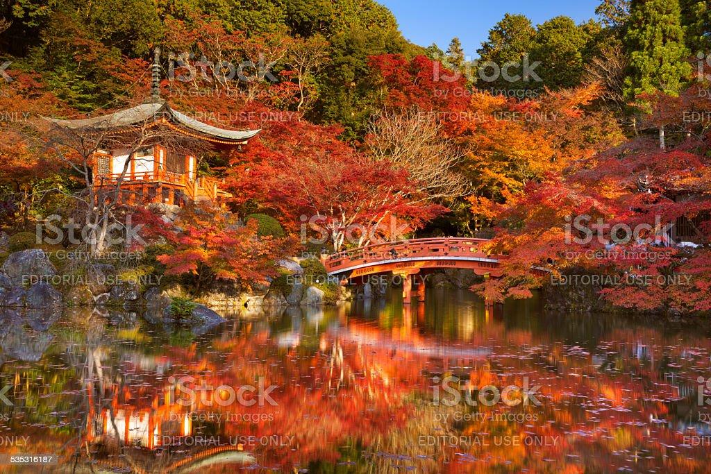 Autumn colours at Daigo-ji Temple in Kyoto, Japan stock photo