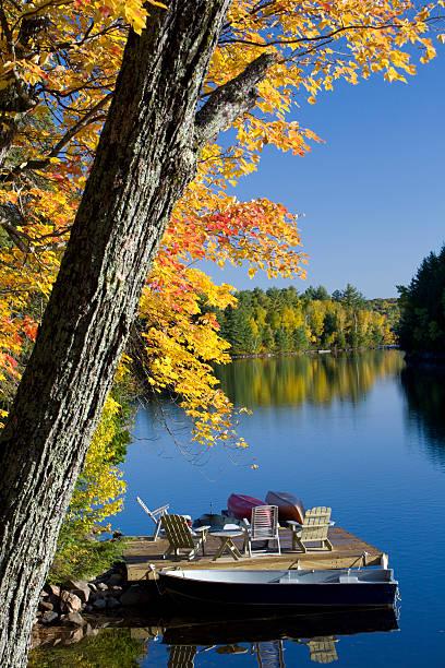 Autumn colours at the Lake stock photo