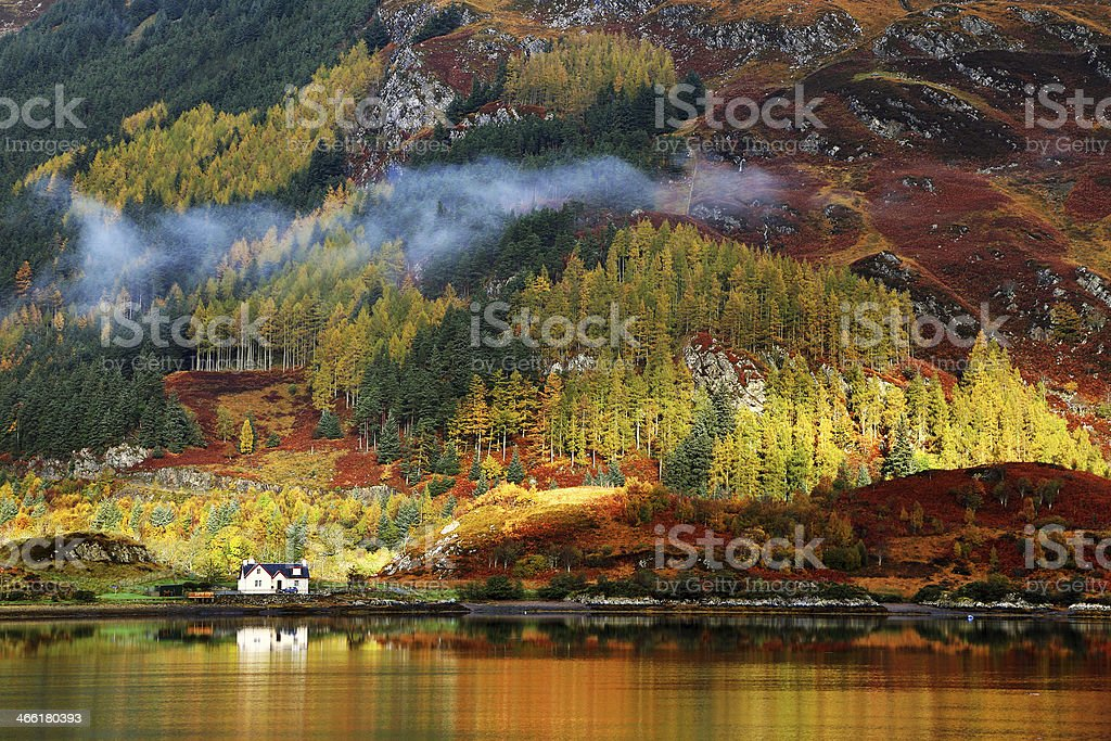 Autumn colours in Highlands stock photo