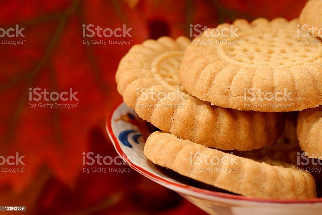 Autumn cookies stock photo