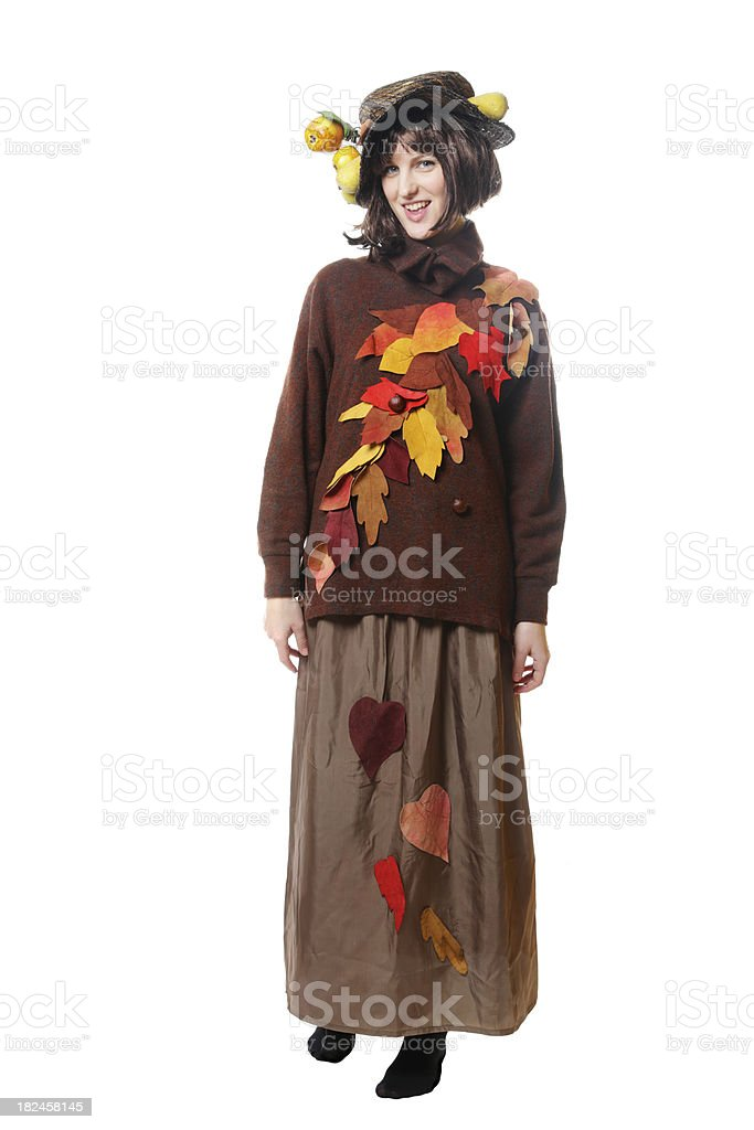Autumn costume royalty-free stock photo