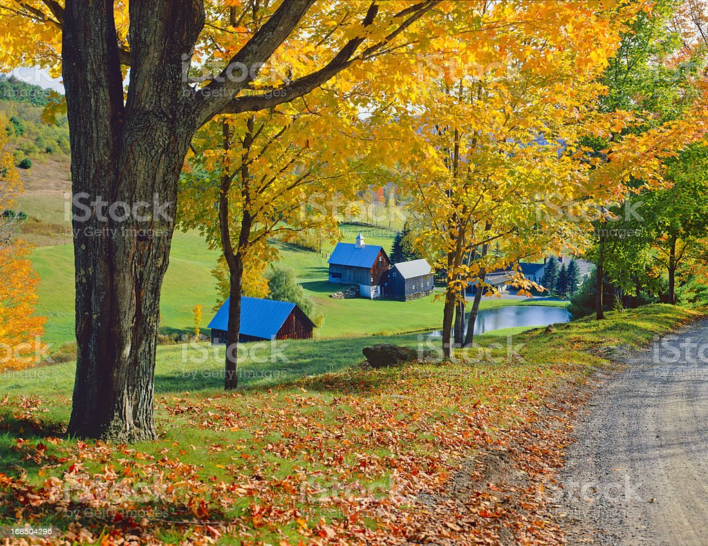 Autumn country side in Vermont royalty-free stock photo