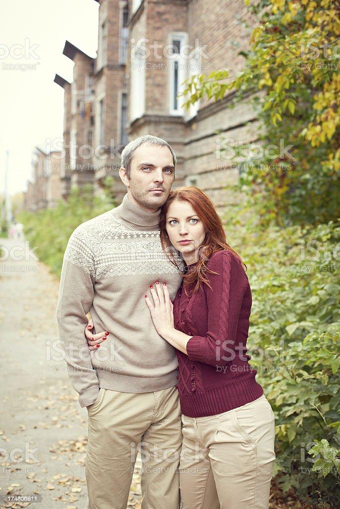 Autumn couple royalty-free stock photo