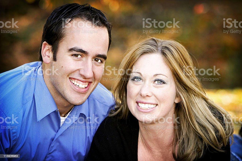autumn couple portraits royalty-free stock photo