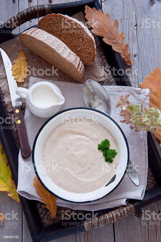 Autumn creamy soup stock photo
