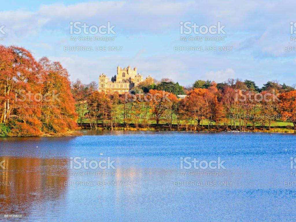 Autumn day at Wollaton Hall stock photo