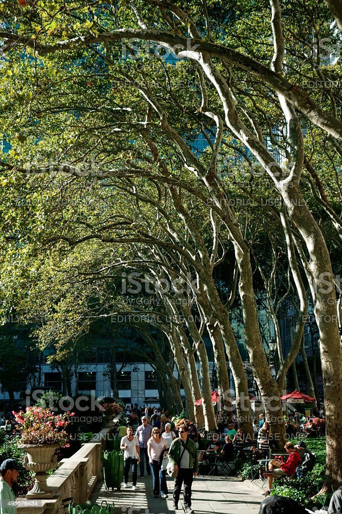 Autumn day in Bryant Park stock photo