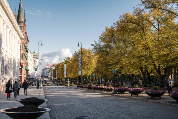 Autumn day in Oslo stock photo