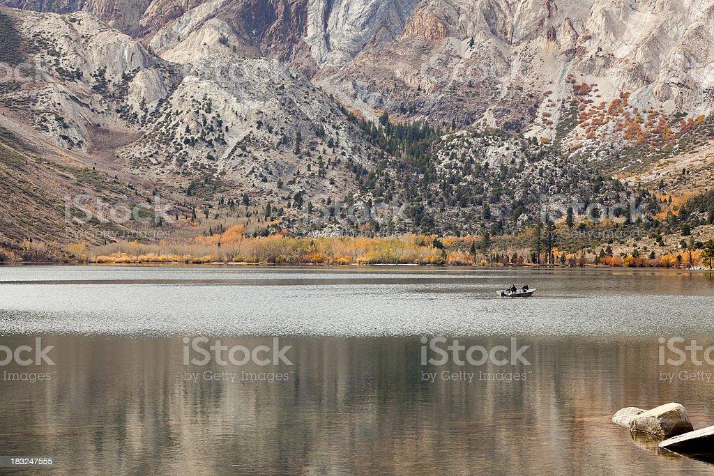 Autumn Day on a Small Lake stock photo