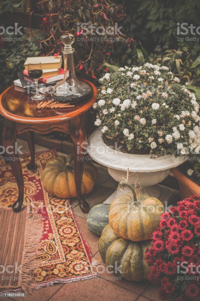 Autumn Decor In The Garden Stock Photo Download Image Now Istock