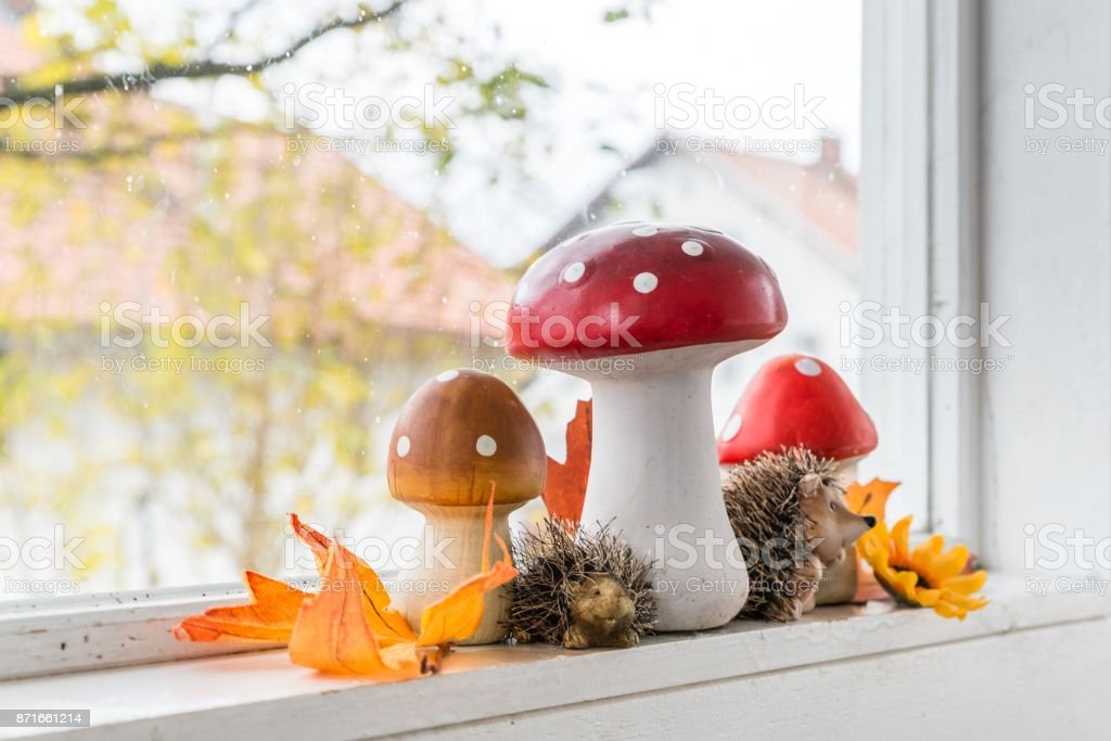 Autumn decoration at home stock photo