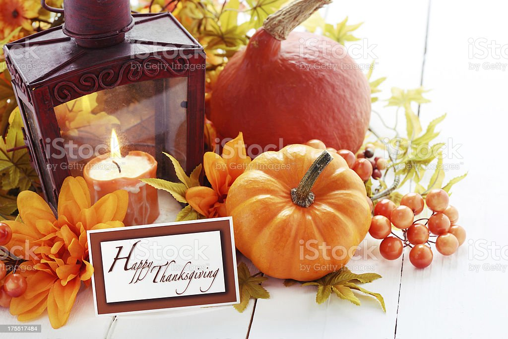 Autumn decoration on white with greeting card royalty-free stock photo