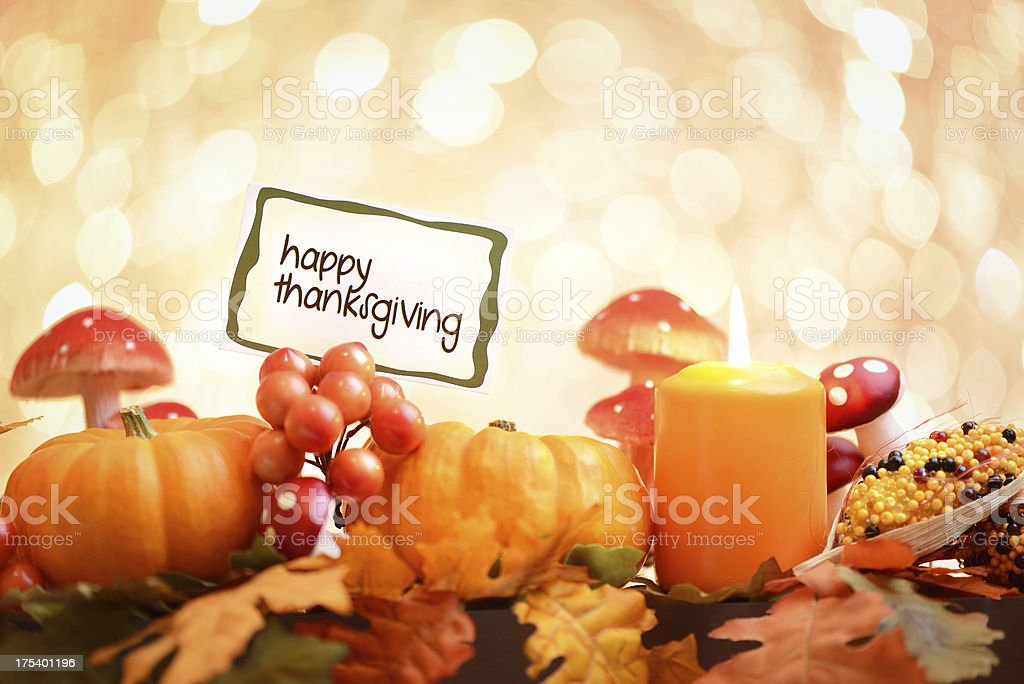 Autumn decoration with greeting card royalty-free stock photo