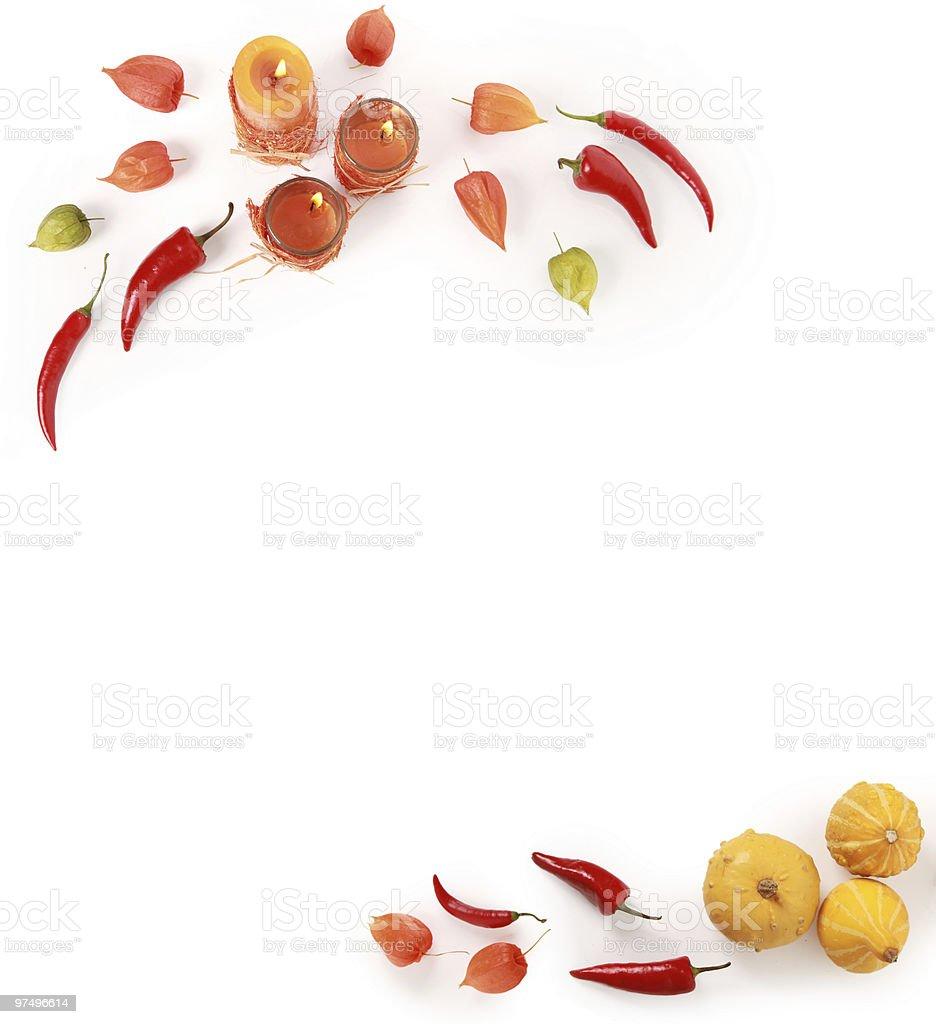 autumn decorations royalty-free stock photo