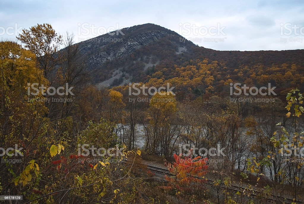 Autumn Delaware Water Gap royalty-free stock photo