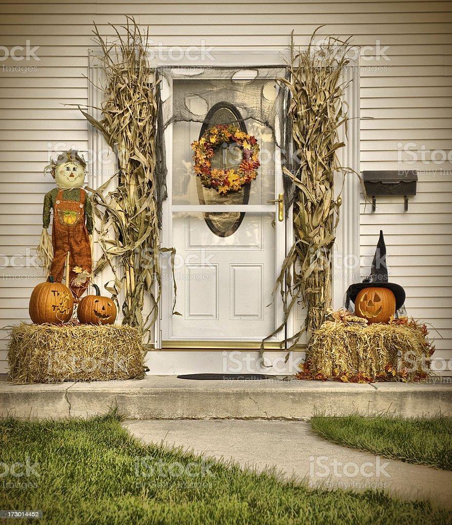 Autumn Door Step stock photo