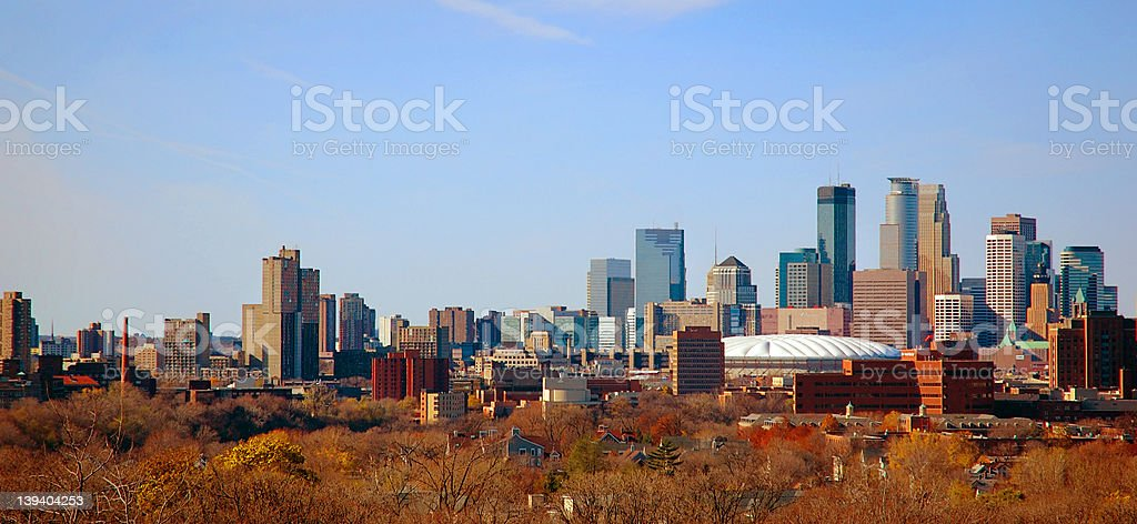 Autumn Downtown Minneapolis, MN stock photo