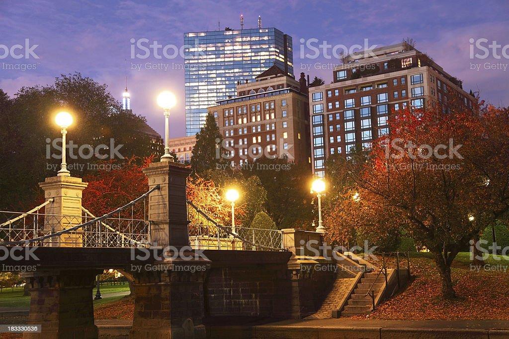 Autumn Evening in Boston royalty-free stock photo