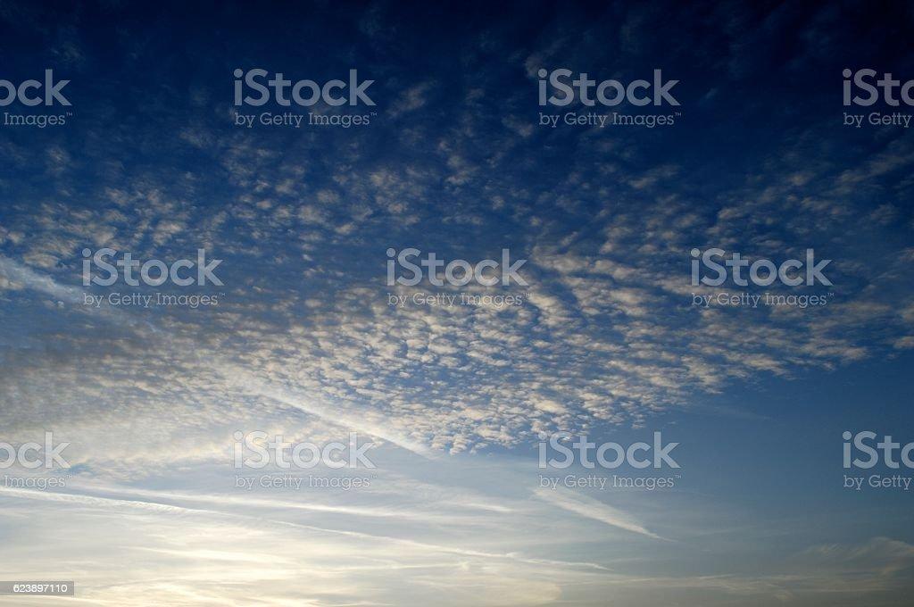 Autumn Evening Sky stock photo
