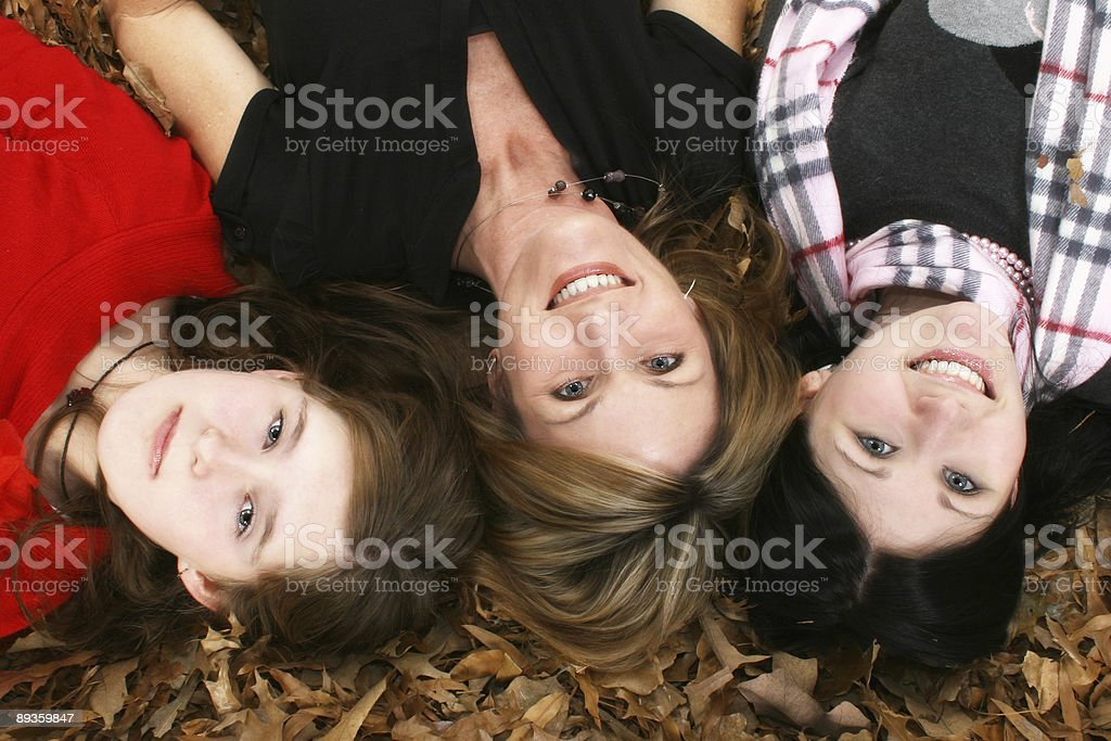 Autumn Family royaltyfri bildbanksbilder
