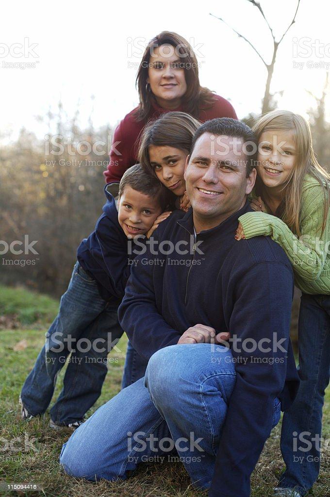 autumn family portraits stock photo
