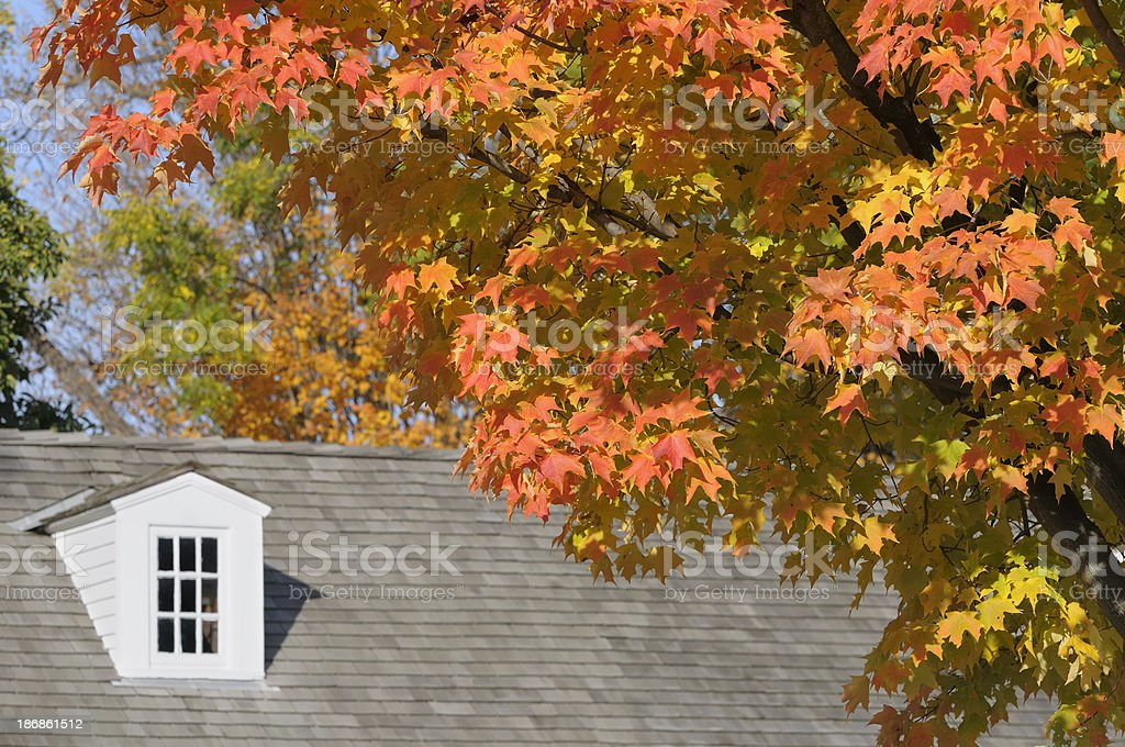 Autumn Farm House royalty-free stock photo