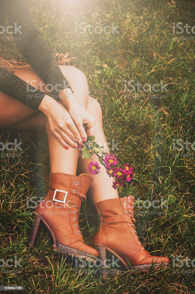 autumn fashion details stock photo