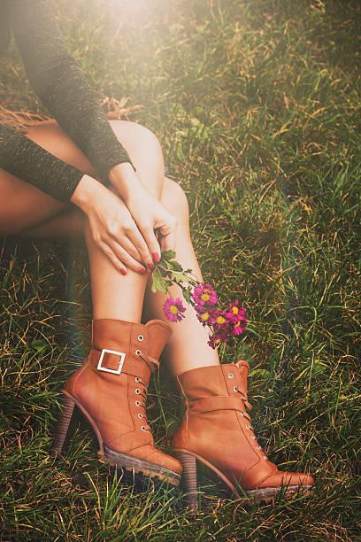 autumn fashion details stock photo