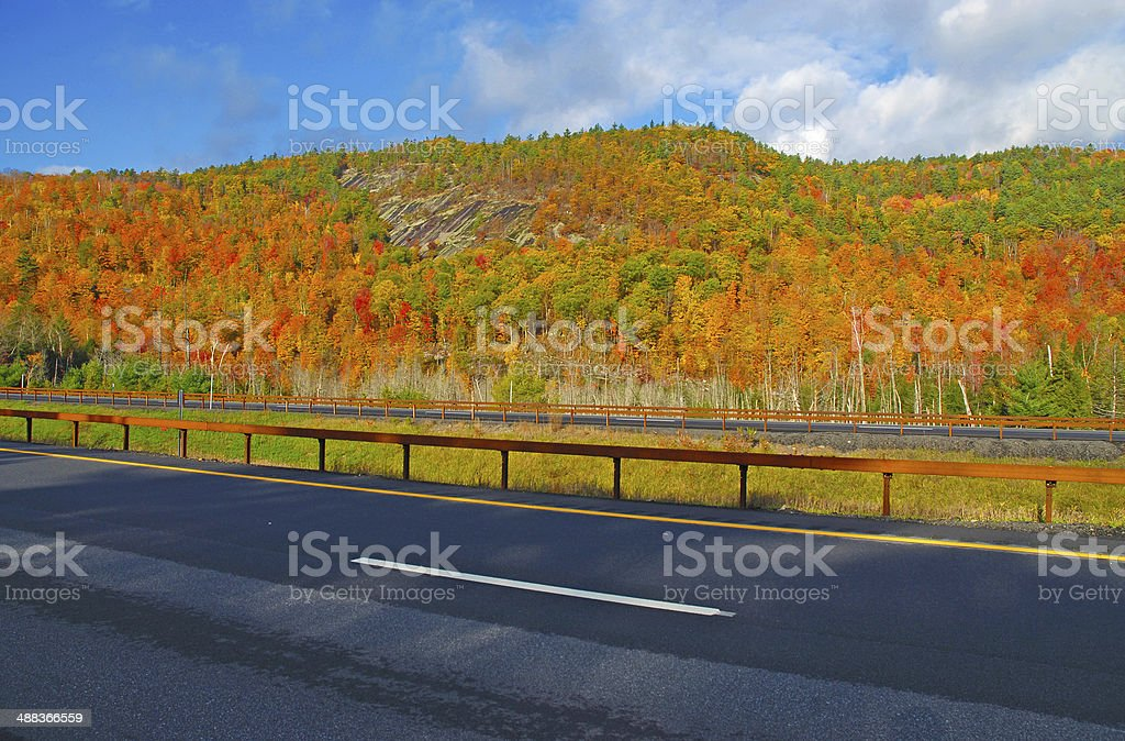 Autumn Foliage, Adirondacks, New York stock photo