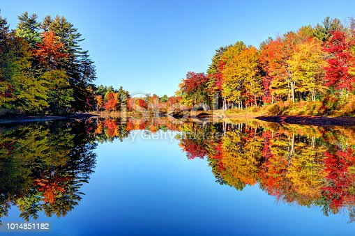 Peak autumn foliage in the Monadnock Region of New Hampshire