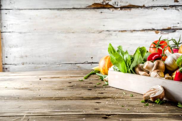 Herbst Essen Kochen Hintergrund – Foto