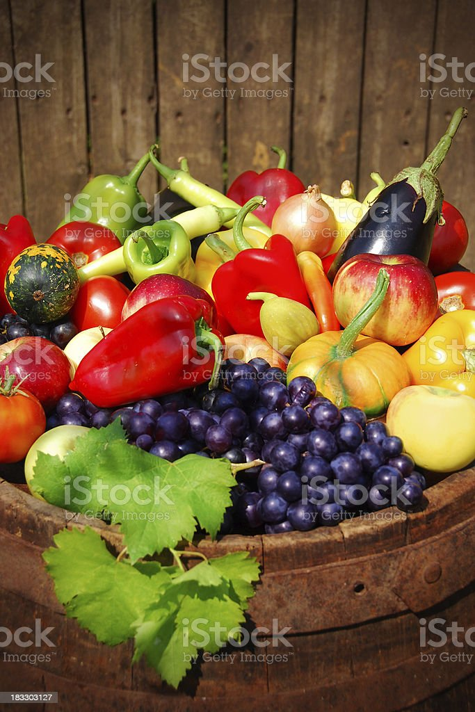 Autumn fruit and vegetables royalty-free stock photo