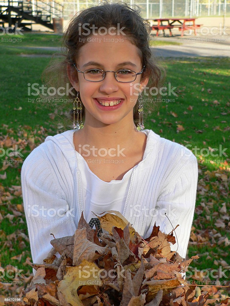Autumn girl 2 royalty-free stock photo