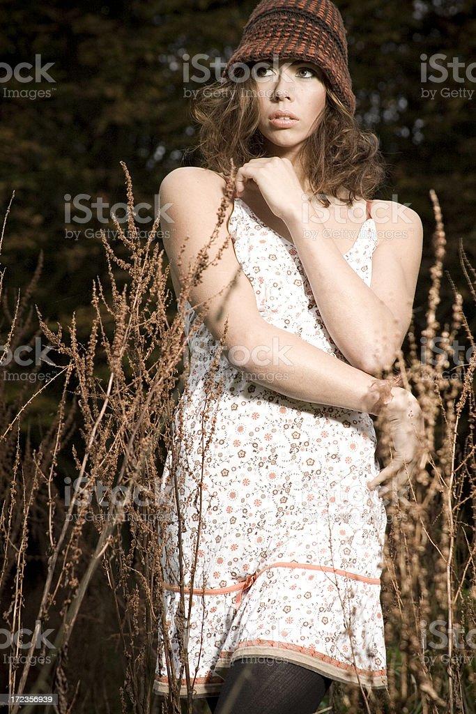Otoño chica foto de stock libre de derechos