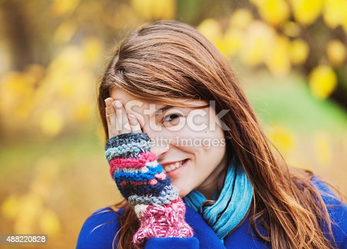 istock Autumn girl portrait 488220828
