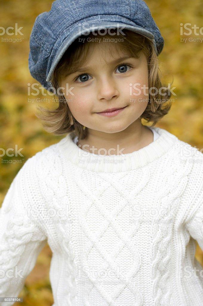 Autumn girl portrait royalty-free stock photo