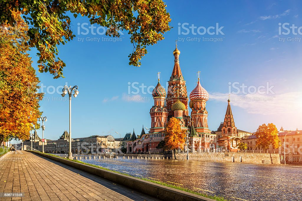 Autumn Gold by the eyes of Cathedral stock photo