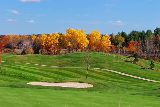 Autumn golf stock photo