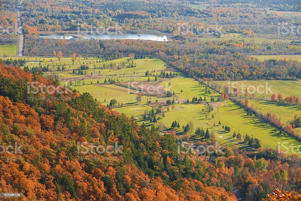 Autumn golf royalty-free stock photo