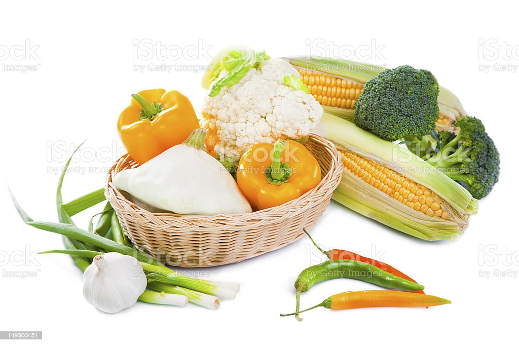 Autumn harvest with yellow and green colors royalty-free stock photo