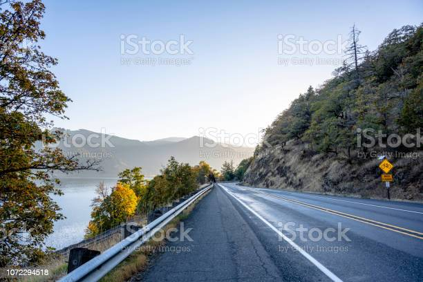 Photo of Autumn highway landscape in the amazing wildlife of the Columbia River