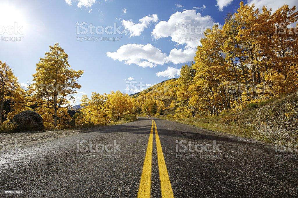 Autumn Highway stock photo