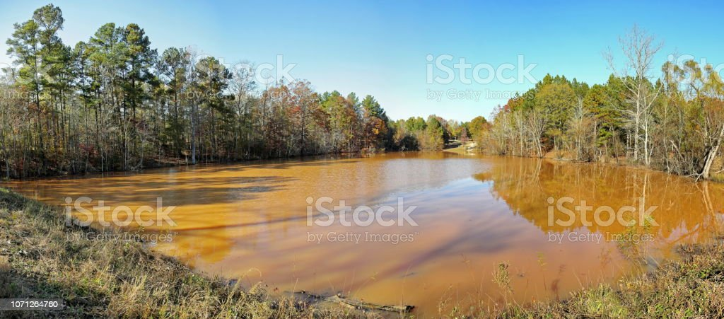 Autumn hike views in South Carolina stock photo