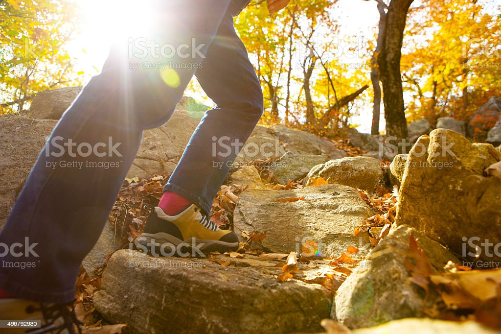 Autumn Hiking stock photo